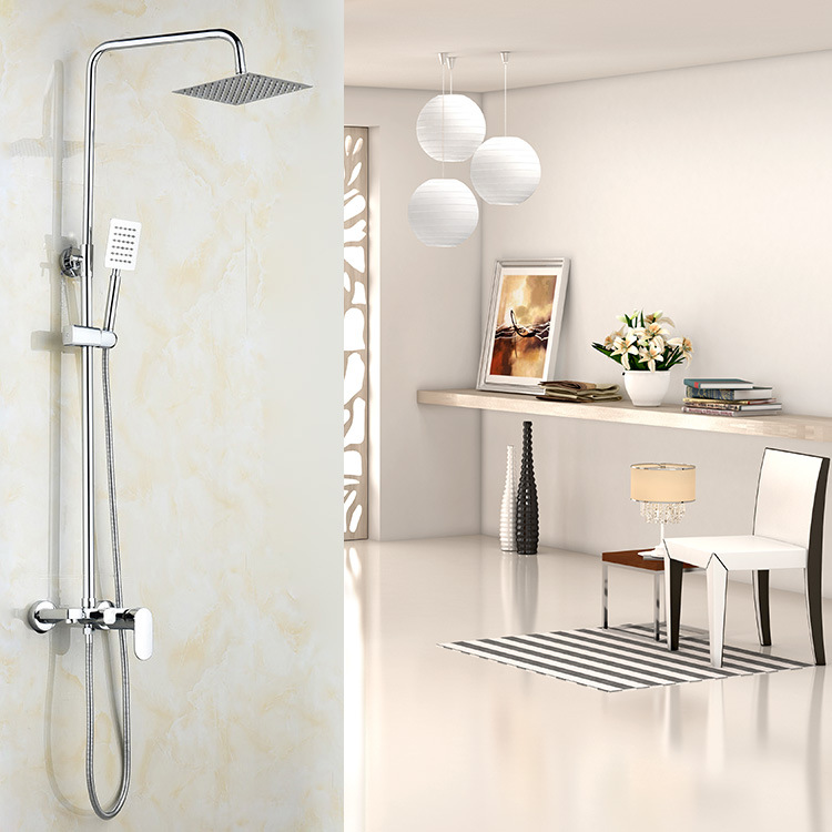 Shower, flat fish, three bath shower sets, all copper shower faucets, 304 hand top spray manufacturers direct sale.