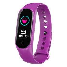 Купить с кэшбэком RAVI M3S Smart Watch Fitness Bracelet Blood Pressure Heart Rate Monitor Pedometer Sport Activity Tracker Smartwatch Men Women