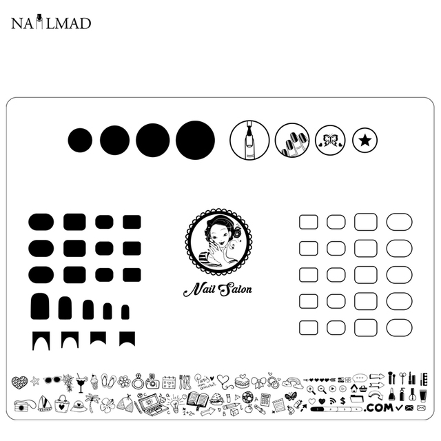 Nail Art Manicure Silicone Mat For Stamping Reverse Stamp Transfer ...