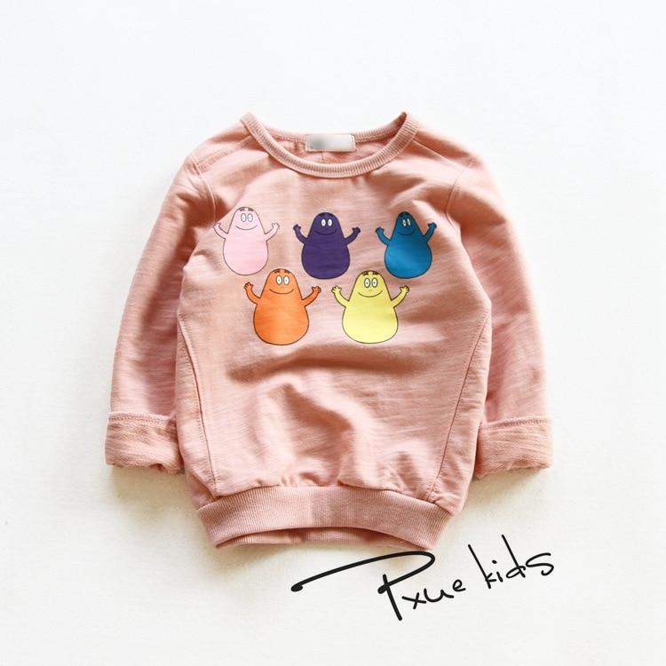 Детские футболки для девочек от 2 до 7 лет 2017 г. весенне-осенняя верхняя одежда для детей детский свитер их хлопка топы для мальчиков футболки...