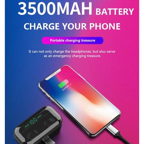 3500 mAh TWS Wireless Earphone Bluetooth 5.0 Earphones Led Power Display CVC8.0 DSP noise reduction Sport Headset Power bank Multan