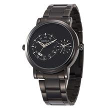 Męskie zegarki fajne czarne zegarki ze stali nierdzewnej męskie zegarki sportowe męskie zegarki kwarcowe dwa razy zegarek strefowy mannen horloge horloge man tanie tanio Oulm Bransoletka zapięcie 3Bar QUARTZ STAINLESS STEEL 23cm Hardlex 12mm 20mm ROUND Kwarcowe Zegarki Na Rękę Nie pakiet