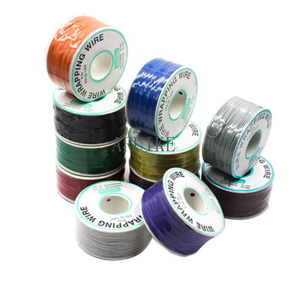 250 m 30 <font><b>AWG</b></font> Wrapping <font><b>Wire</b></font> 10 Colors Single Strand Copper Cable Ok <font><b>Wire</b></font> Electrical <font><b>Wire</b></font> for Laptop Motherboard PCB Solder image