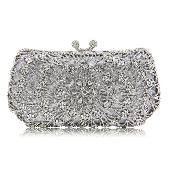 New Women gold Crystal Diamonds dinner day Clutches Luxury Evening Bag for Party Wedding clutch wallet Purse grey Clutches Bag full diamond evening bag day clutches crystal chain shoulder messenger wedding purse bag for wedding party clutch purse gold