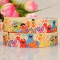"5yards 5/8 "" 16 mm Sesame street ribbon cartoon printed grosgrain ribbon party decoration gift ribbon Free shipping"