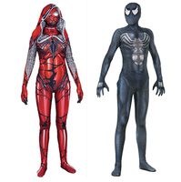 Venom Edward Brock Gwen Stacy Cosplay Costume Zentai Black Spider Man Pattern Bodysuit Suit Jumpsuits