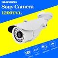 Sensor CCD Da Câmera do CCTV 1200TVL HD Visão Noturna de Vigilância de Vídeo Ao Ar Livre Waterpfoof Câmera Livre