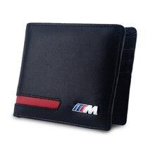 Genuine Leather M Emblem Logo Wallet for BMW E39 E46 E90 E60 3 5 Series X5 E53 F15 C3 F25 520i 525d F10 F20 F30 M3 M5 M4 M Power стоимость