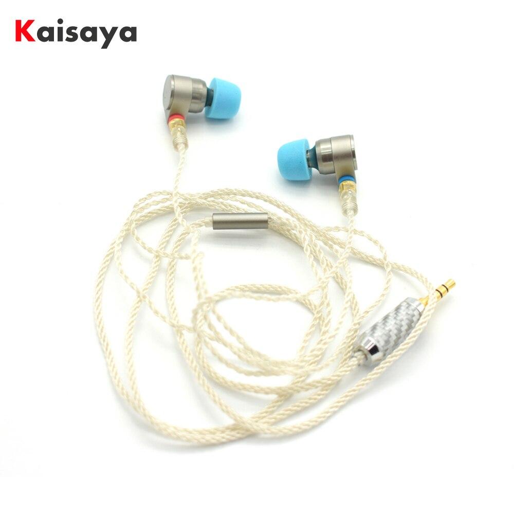 ÉTAIN Audio T2 pro Dans L'oreille Écouteurs Double Dynamique Lecteur HIFI Basse Écouteurs DJ Métal 3.5mm Écouteurs Casque Avec MMCX livraison gratuite