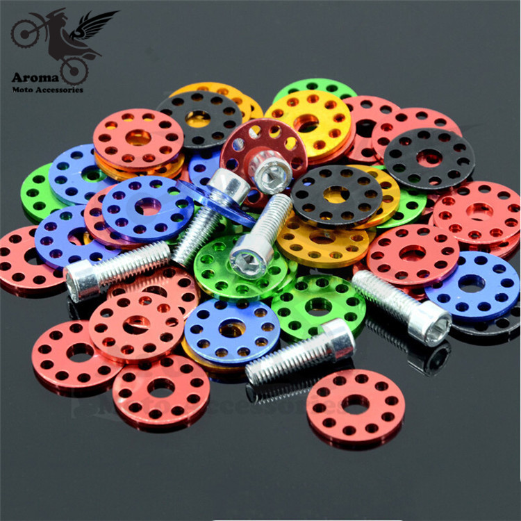 10 pcs colorful unviersal motocross ATV Off-road motorcycle dirt pit bike motorbike Ornamental Mouldings scooter 6MM moto screw motorcycle windscreen windshield for hyosung atk gt125 gt650r gt250r kasinski mirage 250r 650r motocross motorbike dirt bike