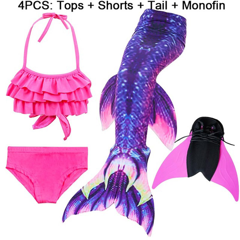 14-Colors-Girls-Swimming-Mermaid-Tail-with-Monofin-Bathing-Suit-Children-Ariel-the-Little-Mermaid-Tail.jpg_640x640