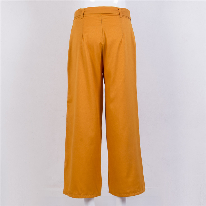 Culottes Palazzo Pants Fashion Women Loose Wide Leg Pants High Waist Wide Solid Long Trousers Summer