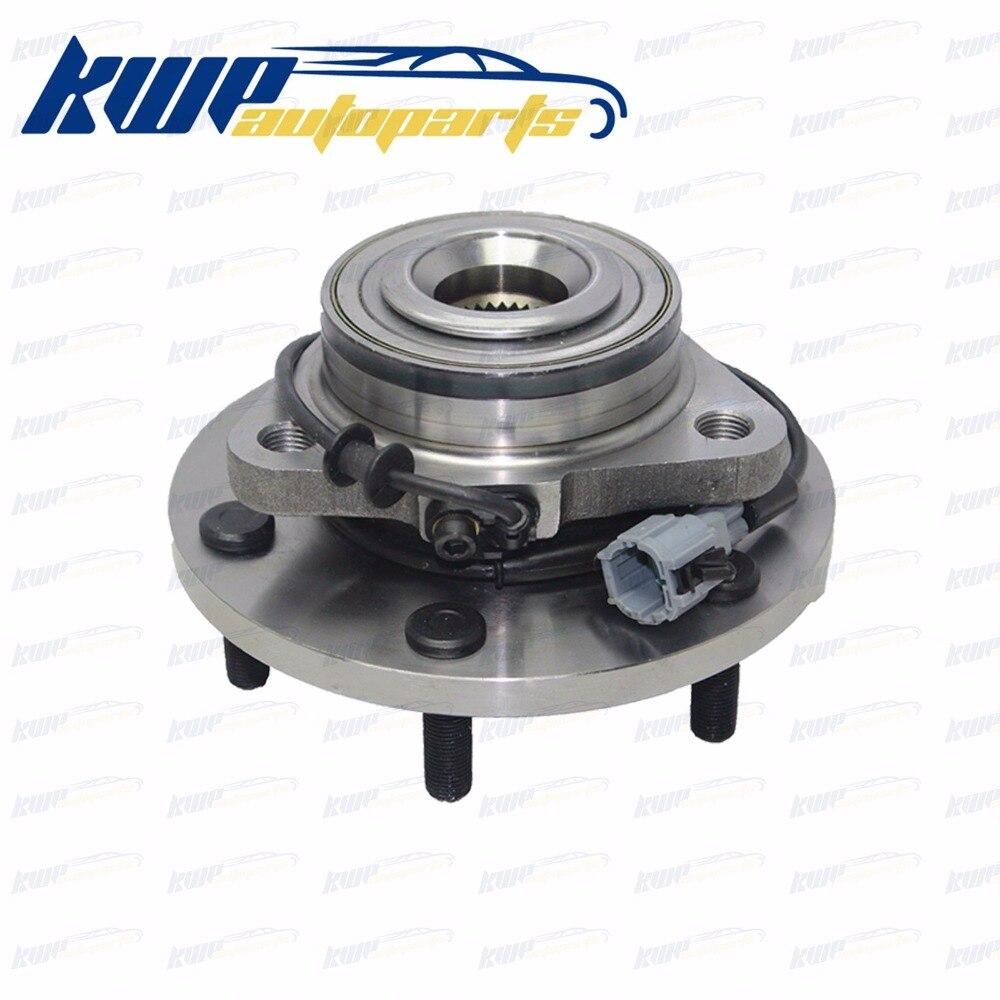 Front Wheel Bearing Hubs for Nissan Navara D40 D22 R51 Xterra Frontier Pathfiner ABS #40202-ZP90A 40202-EA300 biber 40202