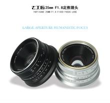 7 мастеров 25 мм/F1.8 объектив с фиксированным фокусным расстоянием для всех одной серии для E крепление EOS-M MOUT/для Micro4 /3 камер A6300 NEX-6 XA3 XA10 XT2 EM10II