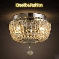 T estilo Europeo luz de Techo de Cristal de Lujo Luz Moderno Para El Dormitorio En Casa Comedor Pasillo Balcón Sala de estar llevó el bulbo