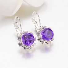 Sale Crystal Round Square Stone drop Earrings For Women fashion Jewelry Rhinestones earrings Weddings Gifts(China)