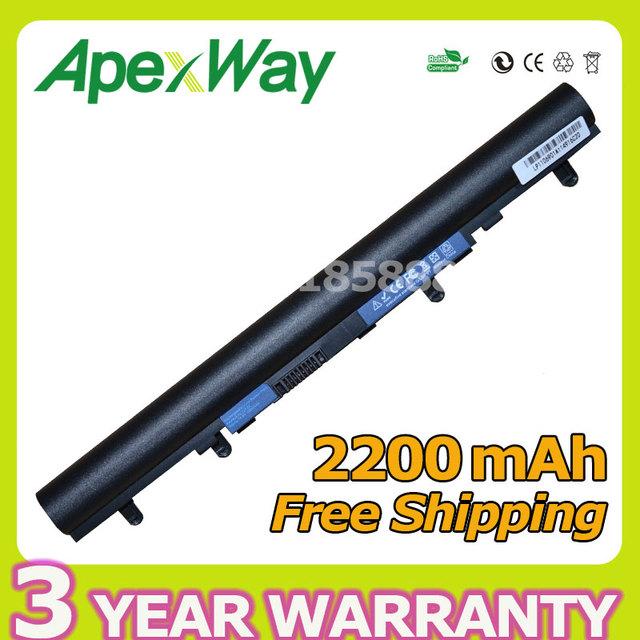 Apexway 4 celdas de batería para acer al12a32 v5-171 aspire v5 v5-431 v5-431g v5 v5-471 v5-531 v5-571 v5-571g v5-571p v5-571pg