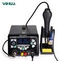 YIHUA 853D 5A II 920 Вт SMD паяльная станция USB DC ПИТАНИЕ тепловые пушки BGA паяльник для наладочной станции паяльник 3 в 1 сварочный инструмент