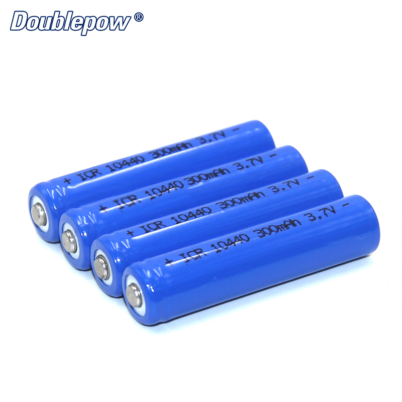 4pcs/Lot FREE SHIPPING Hot Sale Doublepow DP-10440 300mA 3.7V Li-ion rechargeable battery 10440 IN FULL CAPACITY