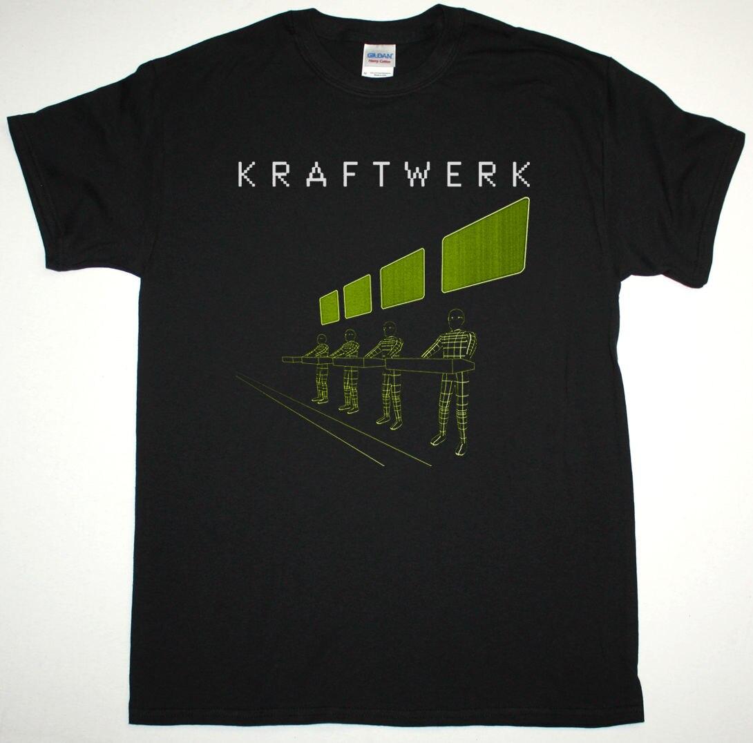KRAFTWERK EXPO REMIX черная футболка электронный KRAUTROCK NEU! Спереди 242 ULTRAVOX новые летние Для мужчин хлопковая Футболка топы, футболки