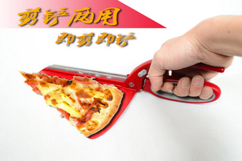 Large stainless steel pizza scissorspizza cutterpizza shovel нож для пиццы