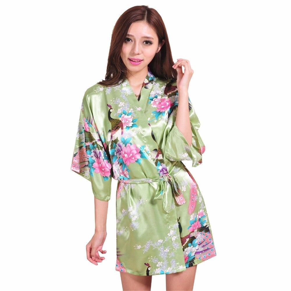 Compare prices on animal print bridesmaid dresses online shopping summer green woman silk kimono yukata gown sexy printed bridesmaids robe dress short mini lingerie floral ombrellifo Choice Image