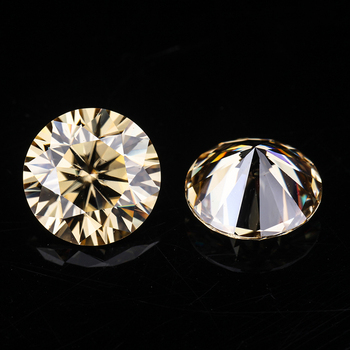 Champagne color 5.5mm round brilliant cut moissanites loose gems stones for jewelry making loose diamonds