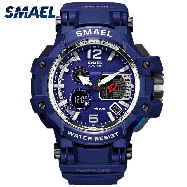 Cool Blue Sport Watches Big Dial LED Digital Watch Shock Resistant 30M Waterproo