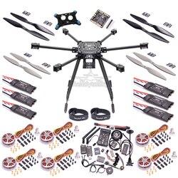 ZD850 Completa In Fibra di Carbonio 850 millimetri Hexa-Rotore Telaio PIX Pixhawk 2.4.8 Volo Comtrol 5010 360KV Motore 40a Brushless OPTO ESC set