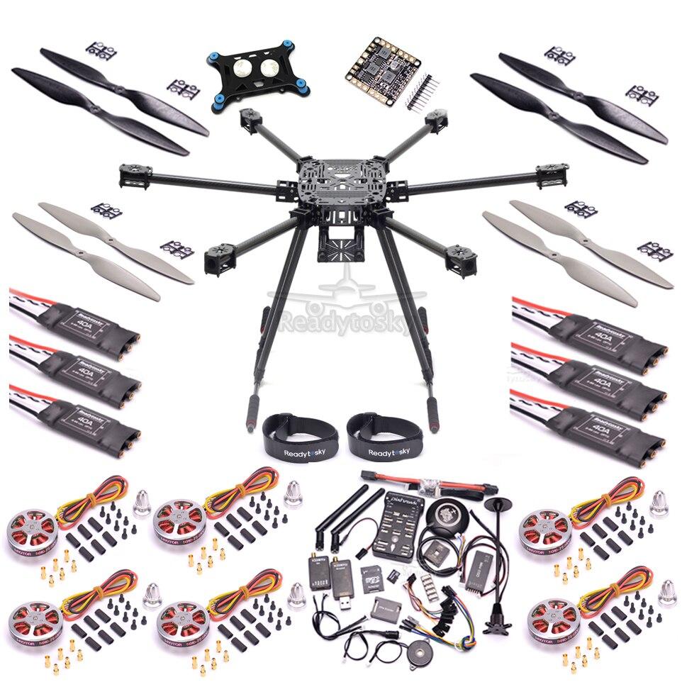 ZD850 plein cadre en Fiber de carbone 850mm Hexa Rotor PIX Pixhawk 2.4.8 vol Comtrol 5010 360KV moteur 40a sans brosse ensemble OPTO ESC-in Pièces et accessoires from Jeux et loisirs    1