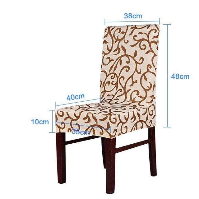 Meijuner Fleur Impression Amovible Chaise Couverture Grand Élastique Housse Moderne Cuisine Siège Cas Stretch Président Couverture Pour Banquet 1