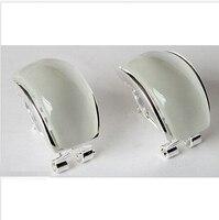 Noble Women's Fancy Opal Inlay 925 STERLING SILVER Earring *l
