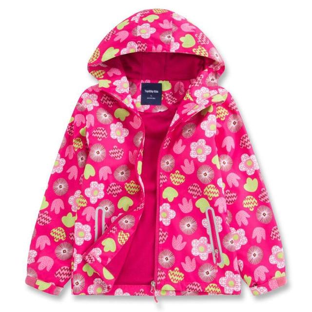 Детские куртки двухэтажные Водонепроницаемый Куртки флис 2018 Весна-осень-зима малыш Обувь для девочек Пальто для будущих мам Спорт Повседневное куртка для девочек