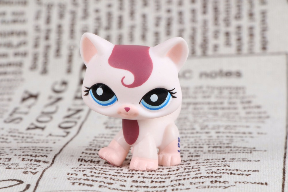 New pet Genuine Original LPS #1679 Cream Maroon Swirl Bangs Princess Walking Kitty Cat Collection figure Toys lps pet shop toys rare black little cat blue eyes animal models patrulla canina action figures kids toys gift cat free shipping