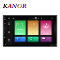 KANOR Octa Core RAM 2G ROM 32G 2 Din Android 6.0 Car Audio Stereo Radio With GPS WiFi Universal GPS Navigation Video Head Unit