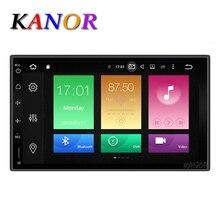 Kanor Восьмиядерный Оперативная память 2 г Встроенная память 32 г 2 DIN Android 6.0 Аудиомагнитолы автомобильные стерео Радио с GPS Wi-Fi Универсальный GPS навигации видео головное устройство