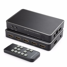6 Port HDMI Switch,  4Kx2K 6×1 HDMI Switch Selector Hub with Optical Spdif Toslink + 3.5mm Stereo Audio Output + ARC Function