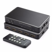 6 Port HDMI Switch, 4Kx2K 6x1 HDMI Switch Selector Hub with Optical Spdif Toslink + 3.5mm Stereo Audio Output + ARC Function