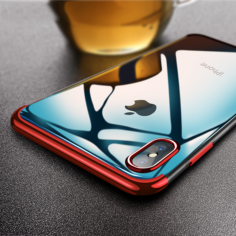 Clear Plating Apple Iphone XS Max Case Cover For Iphone XS/XR Cover Soft TPU Mixed Silicone Bumper Case On Iphone XR/XS