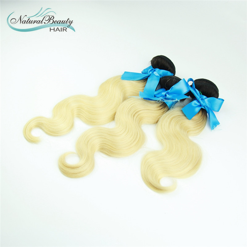 Ombre Brazilian Virgin Hair Body Wave Top Quality Products Ombre Hair Extensions omber 613 3pcs lot