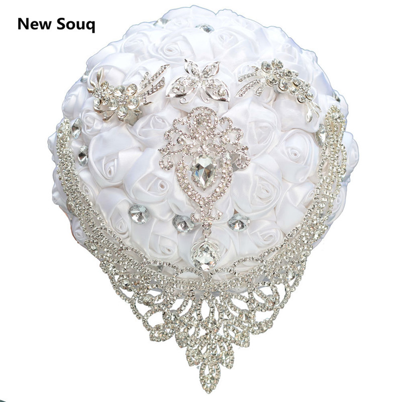 High Quality Wedding Bouquet Wedding Accessories Stunning Crystal Pearls Beaded Bouquets Bridal Bouquet