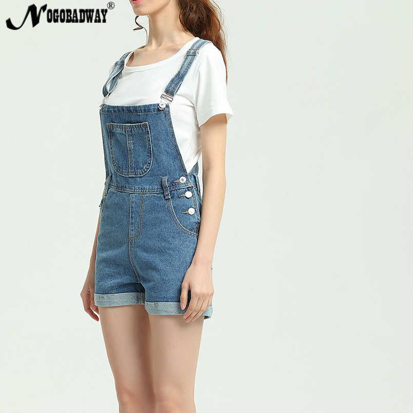 780d4f4fa68 ... 2018 New Summer Short Denim Jumpsuit Women Casual Jeans Romper Playsuits  Fashion Bandage Dungarees Overalls Shorts ...