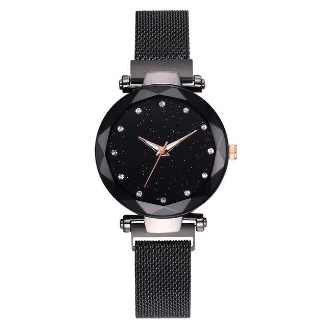 Luxury Women Watches Fashion Elegant Magnet Buckle Vibrato Purple Gold Ladies Wristwatch 2019 New Starry Sky  Relogio Feminino - womens-watches