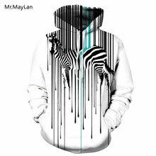 2018 Design Hipster Animal Zebra 3D Print Oversize Tracksuit Men/Women Autumn Winter Jacket Hoodies Hat Sweatshirts Boys Coat varsity stripe trim animal 3d print zippered jacket for men