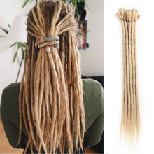 Dreadlocks Extensions Synthetic Blonde Dreads 20 tums Fashion Crochet Braids Hair Hip Hop Syntetisk Braiding Hair