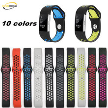 hot deal buy 10 colors fitbit charge 2 sport silicone band watchband for fitbit charge2 bracelet smart wristbands watches accessories strap