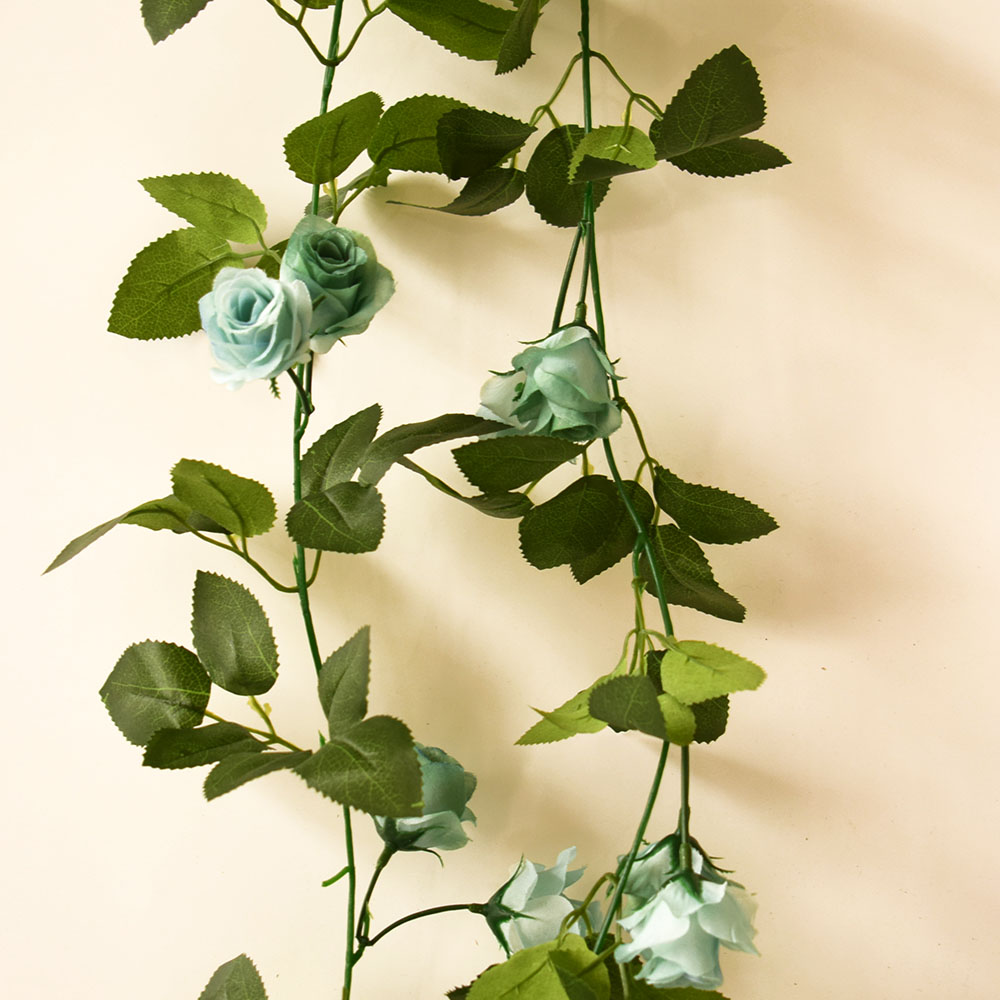 Silk artificial flower roses vine for home swing garden party ...