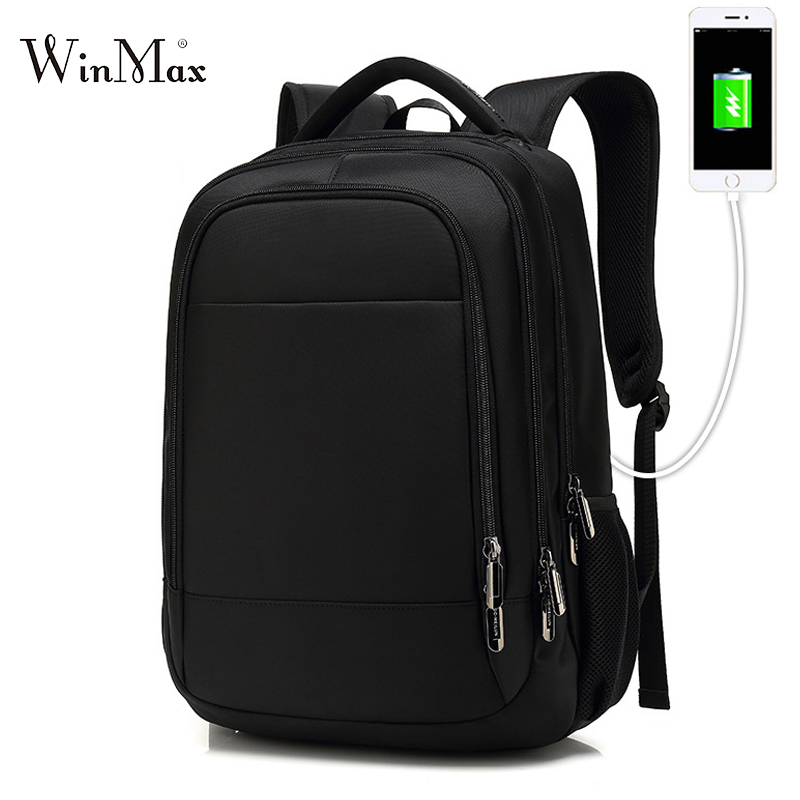2018 New 15 inch Laptop Backpack Men Large Capacity Shoulder Bag USB Backpacks For Male Travel Mochila School Bags For Teenagers цена
