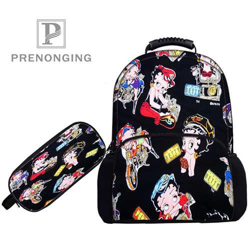 Custom 17inch Betty-boop-Backpacks Pen Bags 3D Printing School Women Men Travel Bags Boys Girls Book Computers Bag#1031-01-60