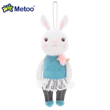 Metoo Dolls Soft Toy 22cm Tiramitu Rabbit Pendant Soft Toys for Girl Cute Rabbit Pusheen Plush Kids Toys for Girl Birthday Gifts